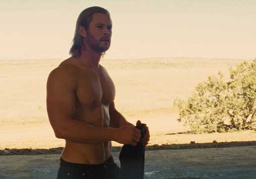 Thor Chris Hemsworth exercises